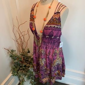 Free People NWT Women's Boho Strappy Sun Dress